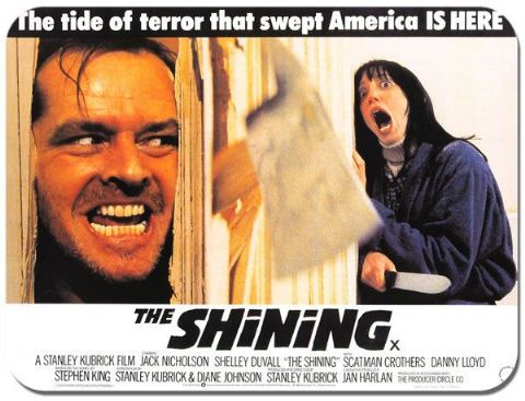 The Shining Vintage Film Poster Mouse Mat. Classic Cinema Movie Mouse Pad Gift
